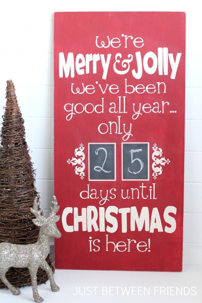 Christmas Countdown Sign - Just Jonie