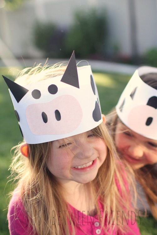 Soft image inside cow headband printable